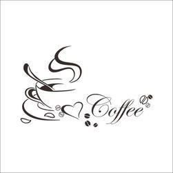 Stenska nalepka - kava z ljubeznijo