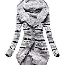 Hosszú pulóver meleg bundával