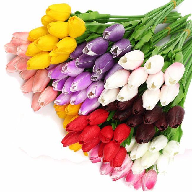 10 kosov umetnih rož - tulipanov 1