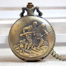 Zegarek kieszonkowy w stylu vintage z odważnymi żołnierzami