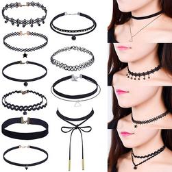 Set od 10 ogrlica crne boje za djevojčice