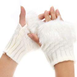 Zimní návleky na ruce s kožíškem - 4 barvy
