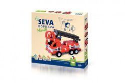 Stavebnice SEVA DOPRAVA Hasiči plast 545 dielikov v krabici 35x33x5cm RM_40015501