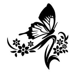 Samolepka na zeď ve tvaru motýlka