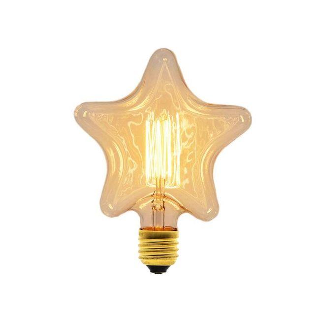Vintage žárovka v podobě hvězdy 1