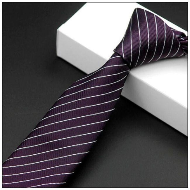 Elegantní pánská kravata - různé vzory 1
