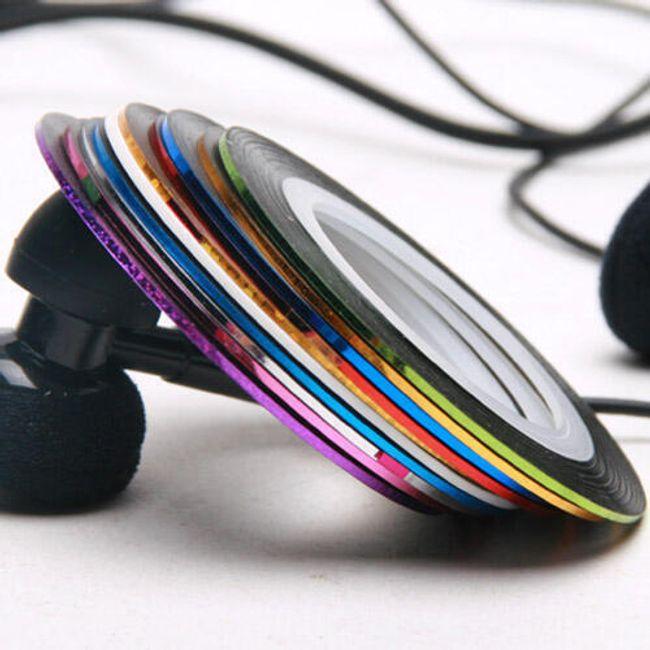 10 színes szalag a köröm díszítéséhez 1