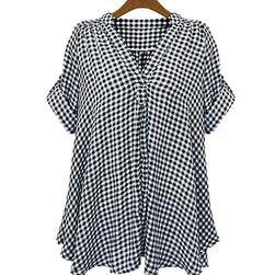Ženska ležerna karirana bluza