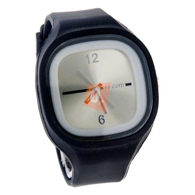 Silikonové hodinky SQUARE - analogové, 13 barev 1