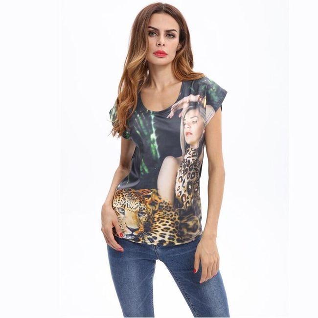 Дамска тениска с къси ръкави Chaeli 1