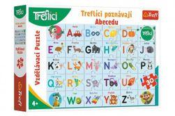 Puzzle Treflíci poznávají Abecedu 30 dílků 60x40cm v krabici 33x23x6cm RM_89115567