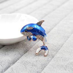 Брошка - делфин