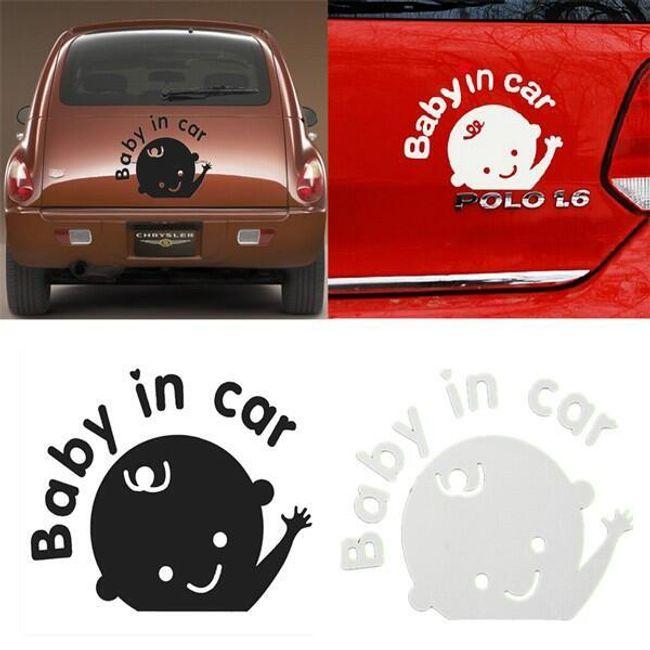 Nalepka za avto - Baby in car 1