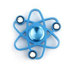 Kovový fidget spinner v podobě atomu - 2 barvy