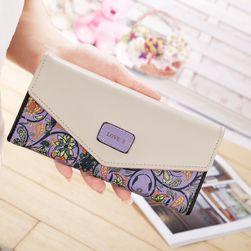 Stylová peněženka s květinami - 5 barev