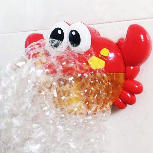 Zábavný krab do vany na tvoření bublin F02 1