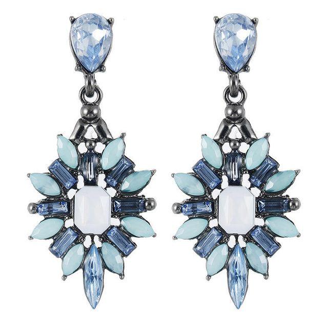 Luxusní kamínkové náušnice - více barev 1