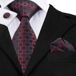 Cravată pentru bărbați cu batistă și butoni - 20 variante