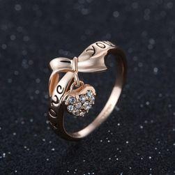 Dámsky prstienok s príveskom - veľkosť 6