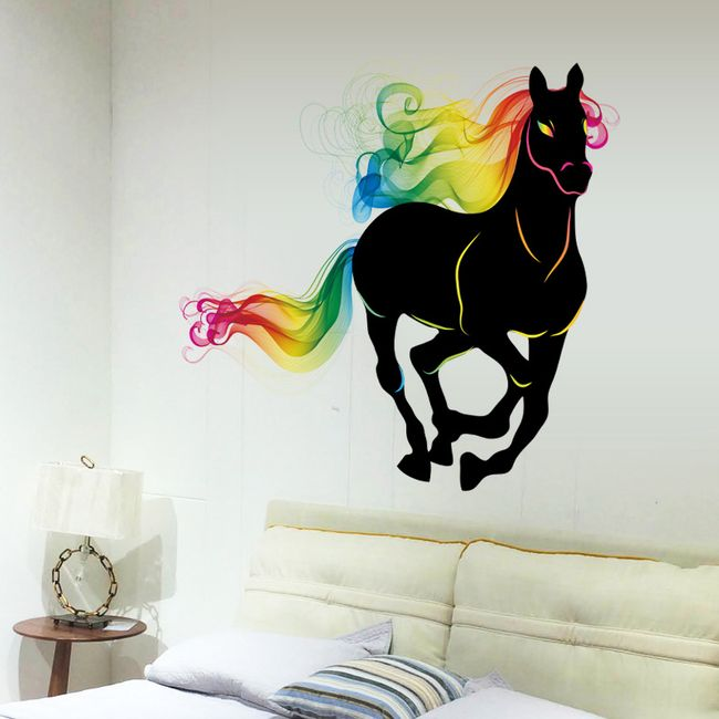 Fali matrica - Futó ló absztrakt színekkel 1