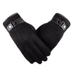 Dokunmatik ekran için erkek kışlık eldiven Gasparo Siyah