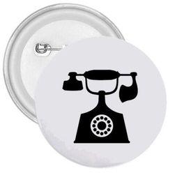 Kitűző Retro telefon