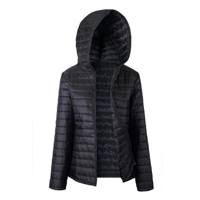 Lehká prošívaná bunda - Černá-velikost č. 7 1
