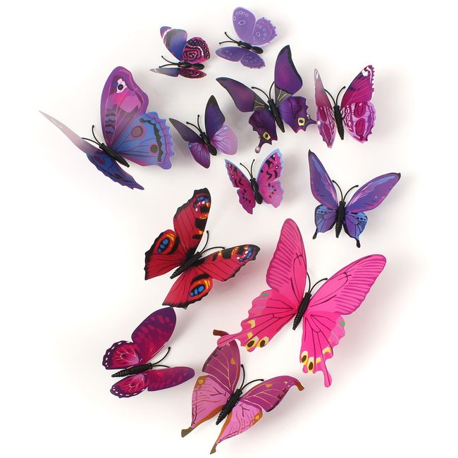 3D-s lila pillangók biztonsági tűvel 1