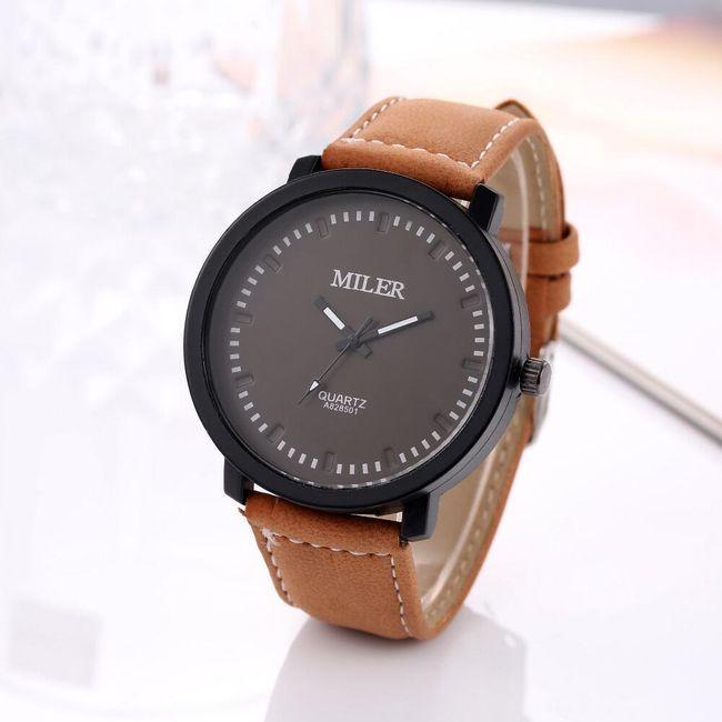 Pánské hodinky s velkým ciferníkem ve čtyřech barvách 1