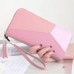 Długi portfel z frędzelkiem i paskiem - 3 kolory