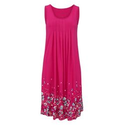 Легкое длинное платье с цветочным принтом для женщин - 3 цвета