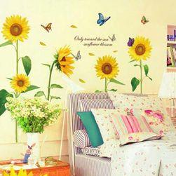 Samolepka na zeď - slunečnicové květy