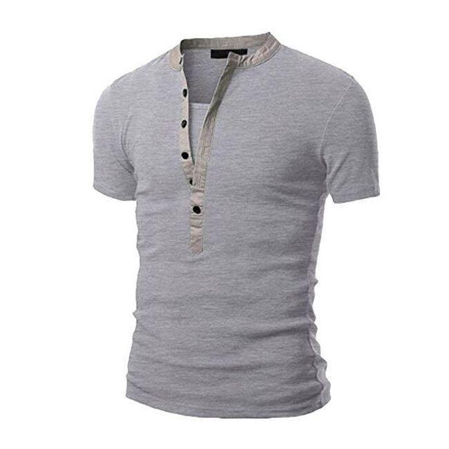 Férfi trikó  nyakkivágással gombokkal - 6 szín