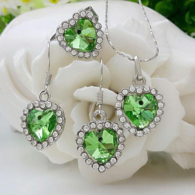 Sada šperků - náušnice, náhrdelník, prsten 1