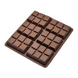 Forma din silicon - patratele de ciocolata