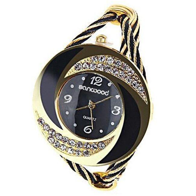 Dámské náramkové hodinky v originálním designu - na výběr z 5 barev 1