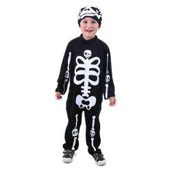 Otroški kostum z okostjem s kapo (M) RZ_207066