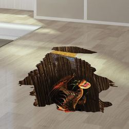 3D стикер за пода с дракон