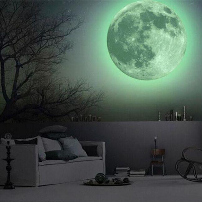 Fluorescenčna stenska nalepka - Luna 1
