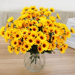 Букет от изкуствени жълти цветя