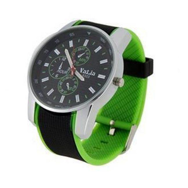 Pánské sportovní silikonové hodinky - zelené 1