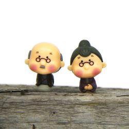 Figurki dekoracyjne - babcia i dziadek
