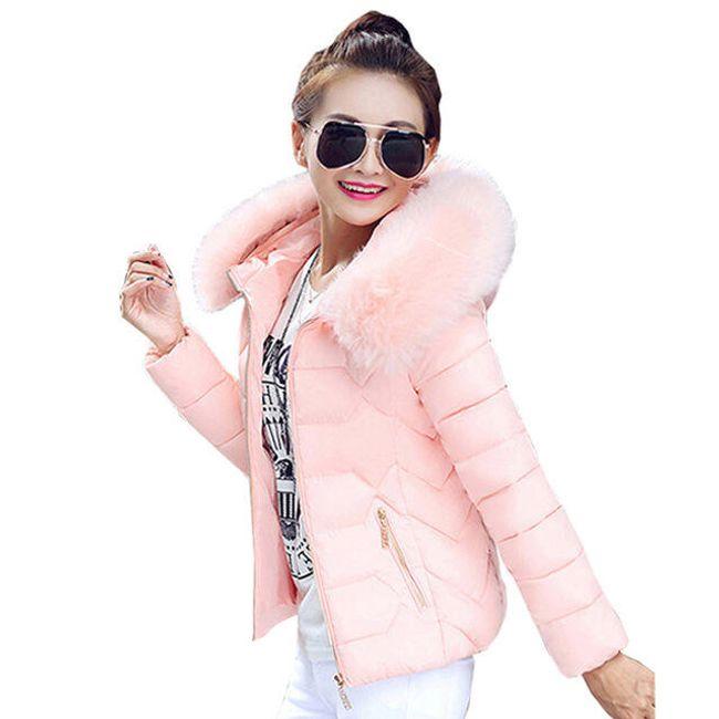 Stilska jakna sa veštačkim krznom 1