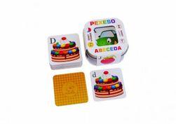 Pexeso Abeceda 64 karet v plechové krabičce 6x6x4cm Hmaťák RM_10770385