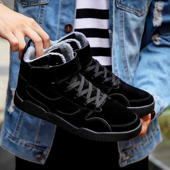 Férfi bélelt cipő - 4 szín