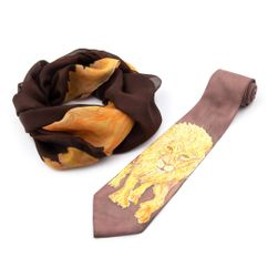 Souprava kravaty a šály Lev