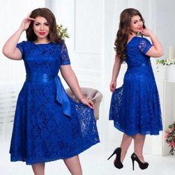 Čipkasta obleka modra-velikosti št. 10