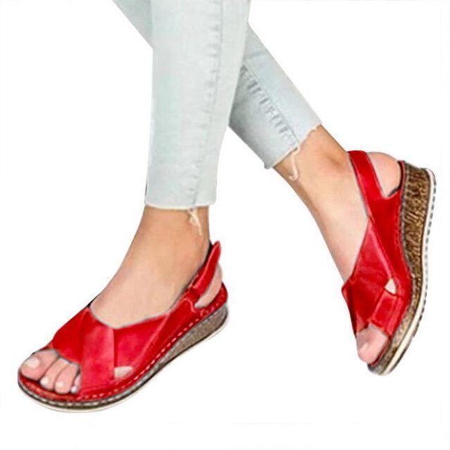 Damskie sandały na koturnie DS457 1