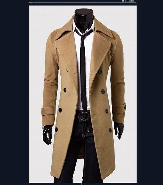 Pánský kabát Giorgio - Béžová-L/XL 1