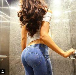 Enobarvne push up hlače